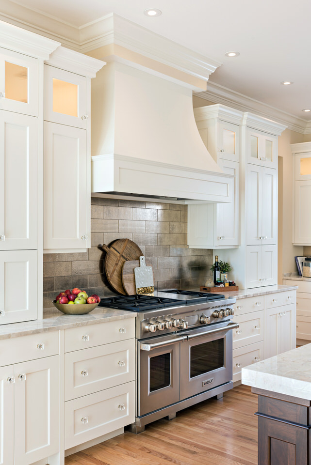 Transitional range hood style