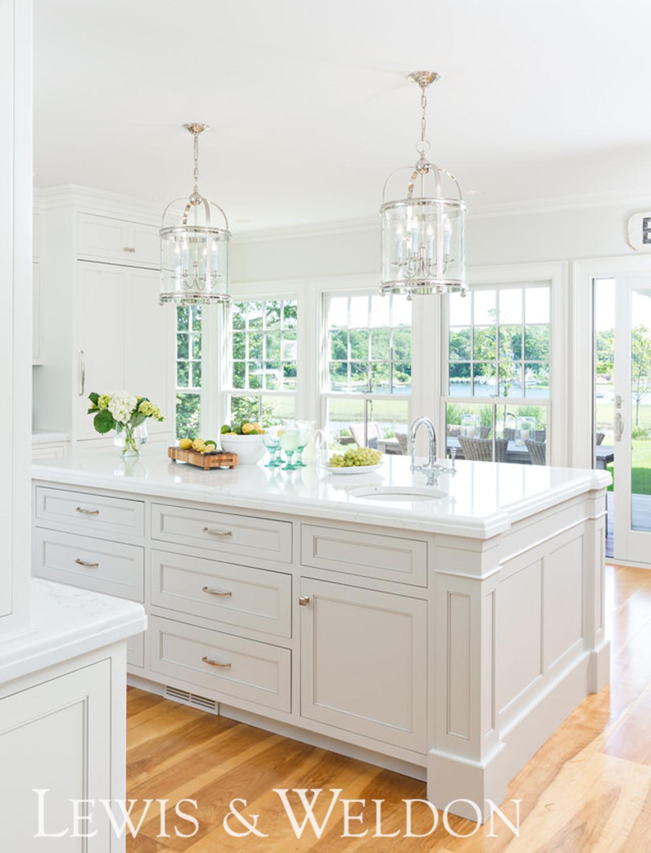 White Kitchen With Space Saving Ideas Lewis Weldon Custom Kitchens